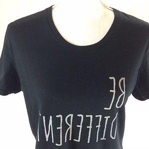 hiclol Tops - Be Different backwards reverse wording t shirt